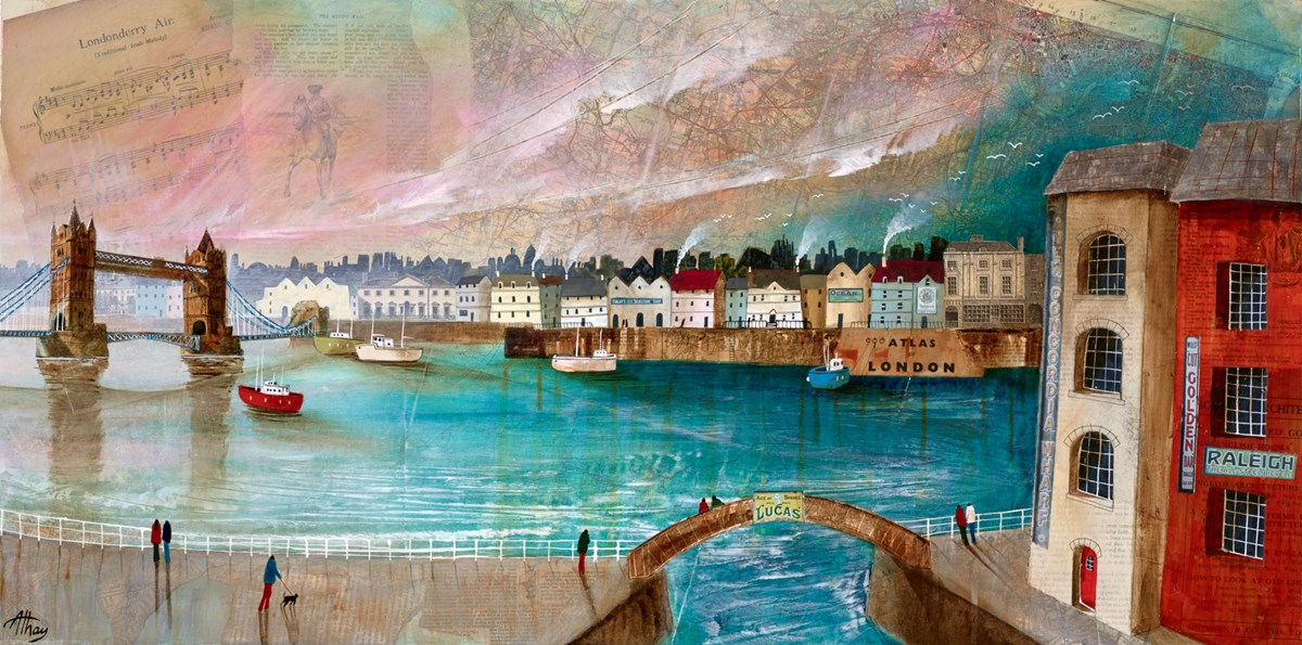 The Thames at Tower Bridge by keith athay -  sized 39x20 inches. Available from Whitewall Galleries
